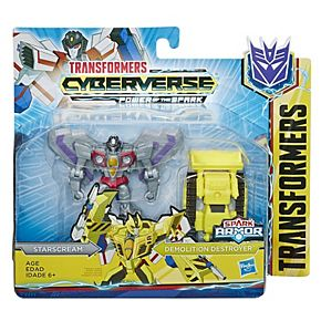Boy's Transformers Cyberverse Spark Armor Starscream Action Figure by Hasbro