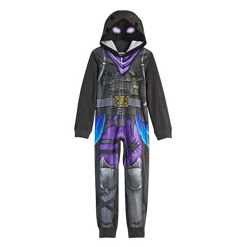 Boy's 8-12 Fortnite Raven Fleece Union Suit