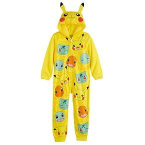 Boy's 6-12 Pokemon Pikachu Fleece Union Suit