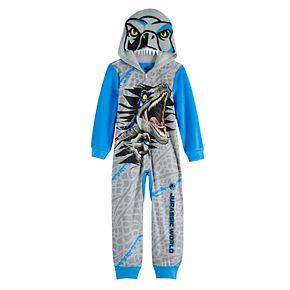 Boy's 6-12 Jurassic World Dinosaur Fleece Union Suit