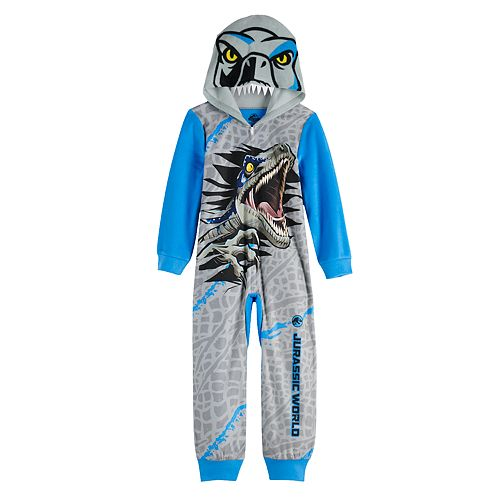 Boy's 6-12 Jurassic World Dinosaur Fleece Union Suit