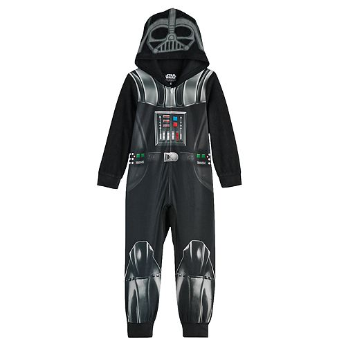 Boy's 6-12 Star Wars Darth Vader Fleece Union Suit