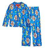 Boys 4-10 Nintendo Mario Santa 2-Piece Pajama Set