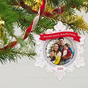 Beautiful Family Photo 2019 Hallmark Keepsake Christmas Ornament