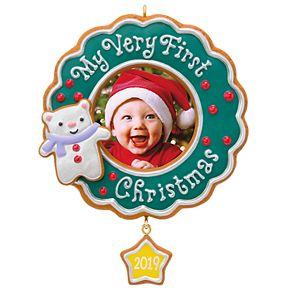 My Very First Christmas Baby Photo 2019 Hallmark Keepsake Christmas Ornament