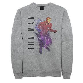 Men's Marvel Avengers Endgame Iron Man Galaxy Paint Sweatshirt