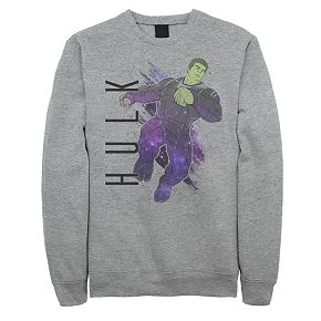 Men's Marvel Avengers Endgame Hulk Galaxy Paint Sweatshirt