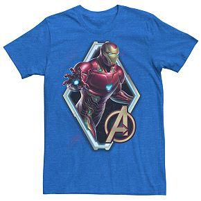 Men's Marvel Avengers Endgame Iron Man Paint Splatter Tee