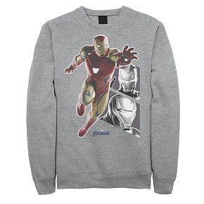 Men's Marvel Avengers Endgame Iron Man Panels Sweatshirt