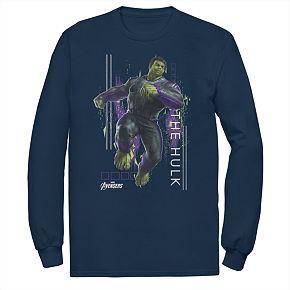 Men's Marvel Avengers Endgame Hulk Space Geometric Tee