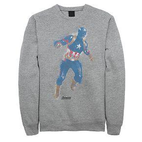 Men's Marvel Avengers Endgame Captain America Spray Paint Sweatshirt