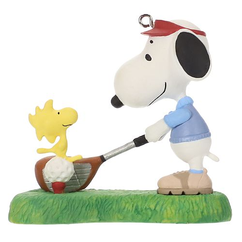 Snoopy And Woodstock Christmas Ornaments.Peanuts Spotlight On Snoopy Golfer Snoopy 2019 Hallmark Keepsake Christmas Ornament