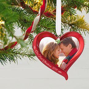 Our First Christmas Heart Photo 2019 Hallmark Keepsake Christmas Ornament
