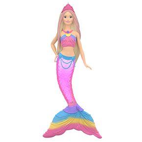 Barbie Rainbow Lights Mermaid 2019 Hallmark Keepsake Christmas Ornament with Light