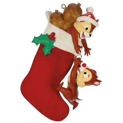 Hallmark Christmas Ornaments 2019.Disney S Chip Dale Stocking Stuffers 2019 Hallmark Keepsake Christmas Ornament
