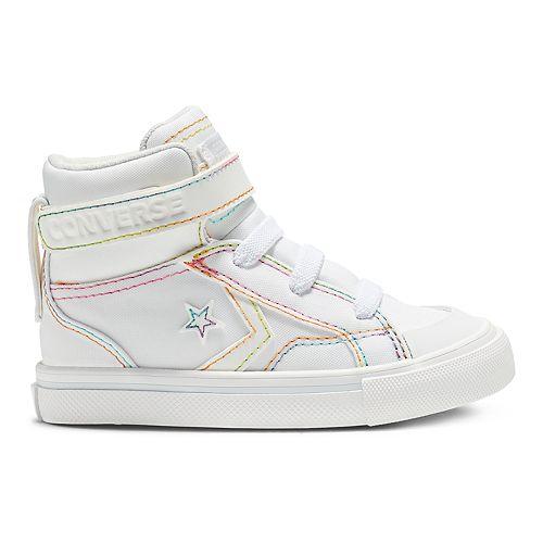 Toddler Girls' Converse CONS Pro-Blaze Rainbow High Top Shoes