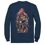 Men;s Marvel Action Pose Group Shot Tee