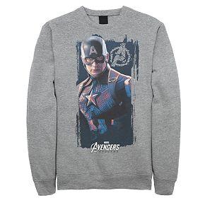 Men's Marvel Avengers Endgame Captain America Poster Sweatshirt