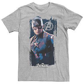 Men's Marvel Avengers Endgame Captain America Poster Tee