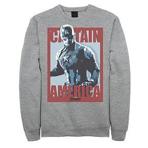 Mens Marvel Avengers Endgame Captain America Poster Sweatshirt
