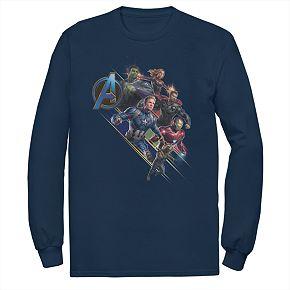 Mens Marvel Avengers Endgame Logo Hero Group Tee
