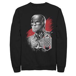 Men's Marvel Avengers Endgame Captain America Strong Pose Sweatshirt