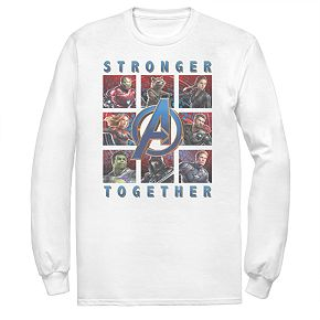 Men's Marvel Avengers Endgame Stronger Together Poster Tee