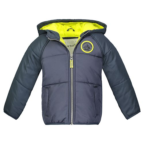 Toddler Boy Carter's Quilted Heavyweight Hooded Jacket