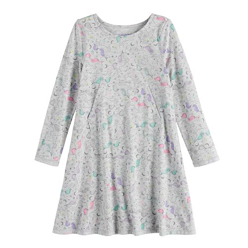 Toddler Girl Jumping Beans® Adaptive Print Skater Dress