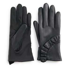 Women's Apt. 9® Leather Ruffle Tech Glove