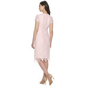 Women's Sharagano Lace Overlay Surplice Dress