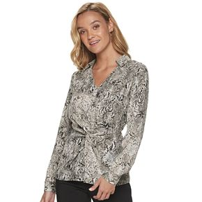 Women's Apt. 9® Collared Front Knot Top