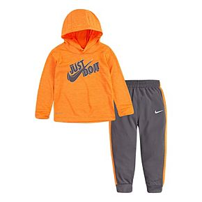 Baby Boy Nike 2 Piece Dri-FIT Long Sleeve Hooded Top and Pants Set