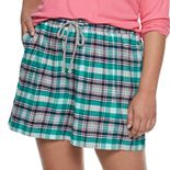 Plus Size SONOMA Goods for Life? Flannel Pajama Shorts