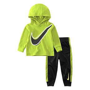Baby Boy Nike 2-Piece Dri-FIT Long Sleeve Hooded Top and Pants Set