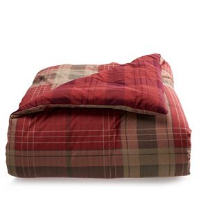 Cuddl Duds Lightweight Microfiber Lodge Patchwork Comforter Set