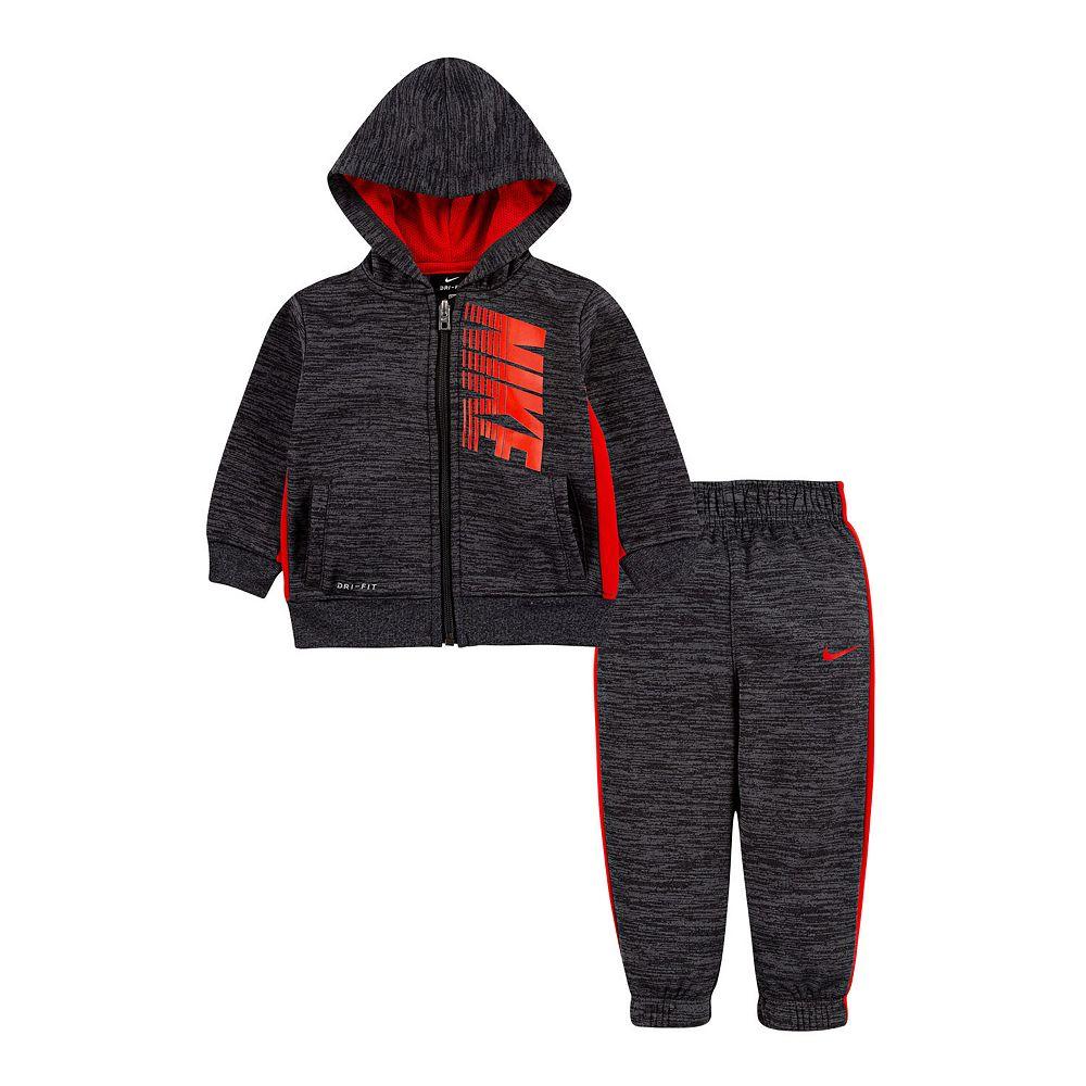 Baby Boy Nike 2 Piece Therma Fleece Zip Hoodie and Pants Set