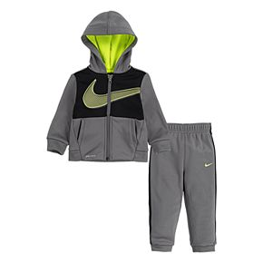 Baby Boy Nike 2 Piece Therma Fleece Zip Hoodie and Pants Set