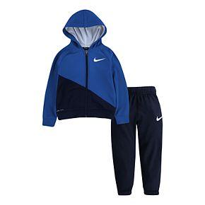 Baby Boy Nike 2 Piece Therma Fleece Zip Hoodie & Pants Set