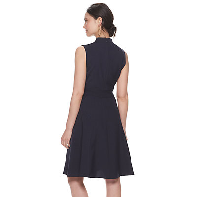Women's Sharagano Side-Tab Fit & Flare Dress