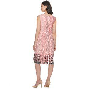 Women's Sharagano Print Tie-Front Midi Dress