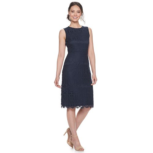 Women's Sharagano Lace Midi Dress