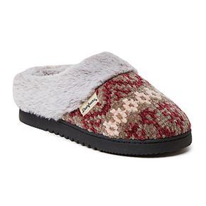 Women's Dearfoams Fairisle Chenille Clog Slippers