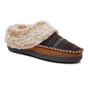 Women's Dearfoams Plaid Clog Slippers