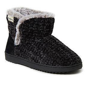 Women's Dearfoams Chenille Knit Boot Slippers