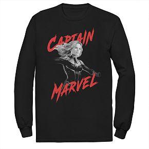 Men's Marvel Avengers Endgame Captain Marvel Dark Poster Tee