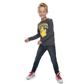 Boys 4-12 Jumping Beans® Long-Sleeve Rainbow Pikachu Tee