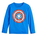Boys 4-12 Jumping Beans® Long-Sleeve Sketchy Shield Tee