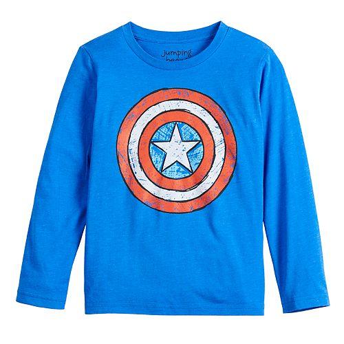Boys 4-12 Jumping Beans® Long-Sleeve Sketchy Shield Tee
