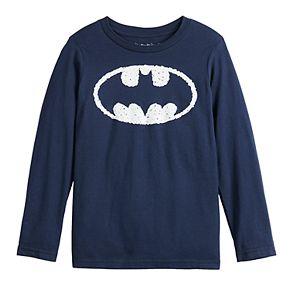 Boys 4-12 Jumping Beans® Long-Sleeve Batman Shield Tee